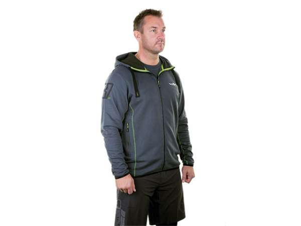 WX Premium Sweat-Jacke Unisex Gr. XXL anthrazith/grün