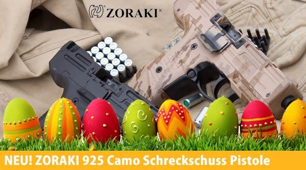 Zoraki 925 Camo und Zoraki 925 Schwarz Schreckschuss Pistole 9 mm P.A.K.