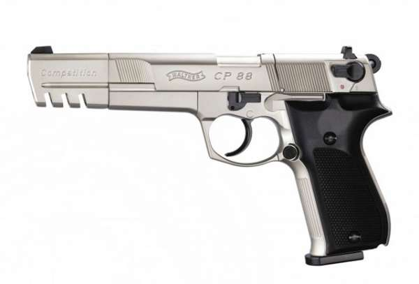 "Walther CP88 Competition, 5,6"", C02 Pistole, Nickel"