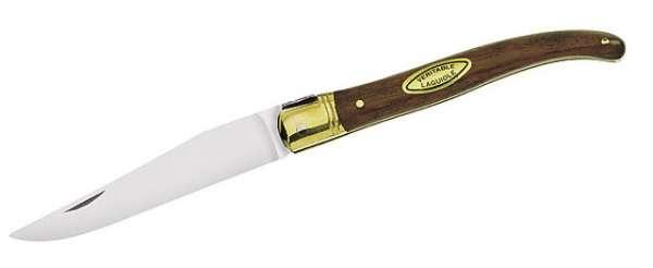 Laguiole-Messer, Stahl 12C27, Rosenholz-Schalen, Messingbeschläg