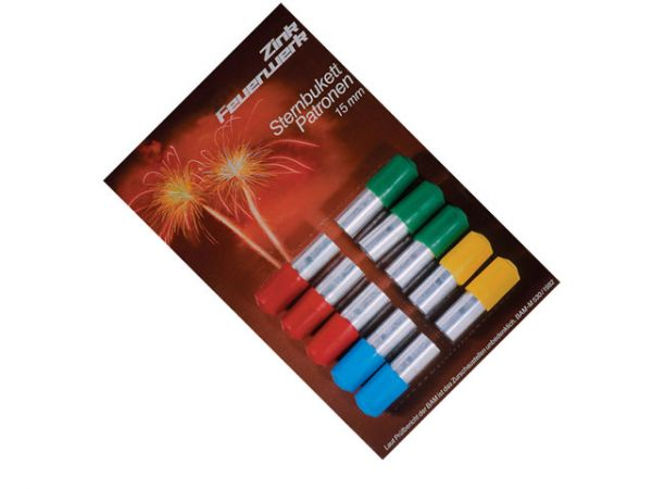 Sternbukettpatronen 15mm 10-teilig 4 Farben