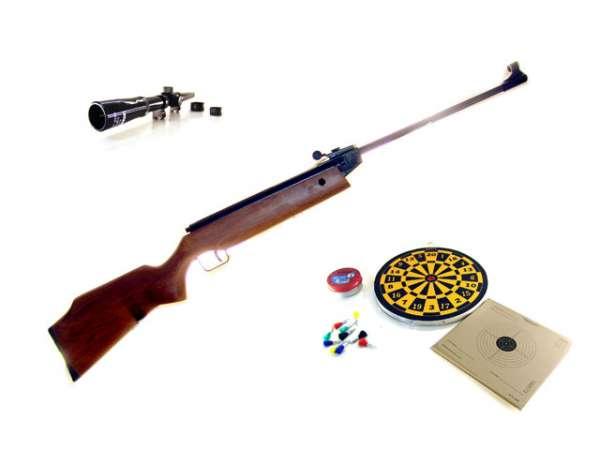 Perfecta Mod 45, Luftgewehr Set, Zielfernrohr 4x15, Scheiben
