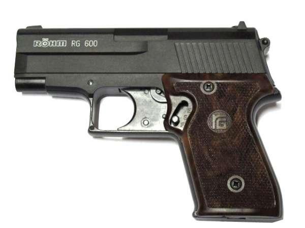 Röhm RG 600 Schreckschusspistole / Gaspistole Kal. 22 long schwarz/brüniert