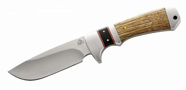 Puma TEC Gürtelmesser, Zebrawood, Klinge 10 cm, Lederscheide