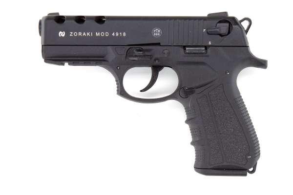 Zoraki 4918 Schreckschuss Pistole 9 mm P.A.K inkl. 18 Schuss Magazin brüniert