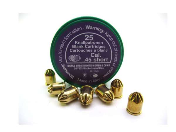 Knallpatronen cal. .45 short / 25 St.
