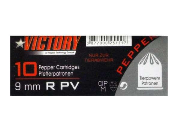 Victory Pfefferpatronen / Reizstoffpatronen 9 mm R. PV 10 Stk.