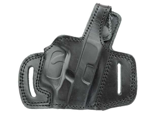 FIRST STRIKE Gürtelholster Leder für Schreckschuss Pistole Gas Alarm Signal Pistole Zoraki 917 schw.
