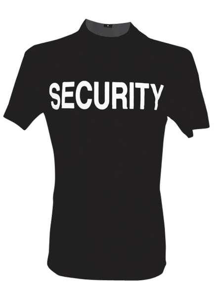 T-Shirt mit Securityaufdruck