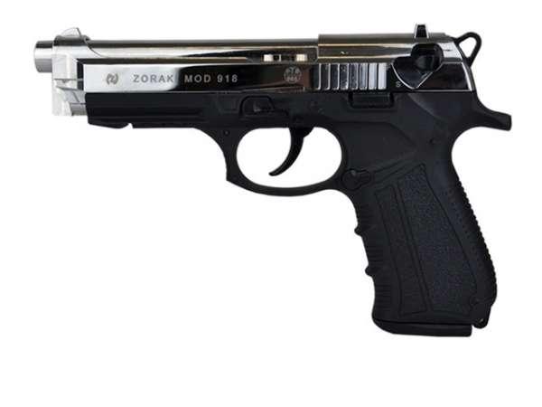 Zoraki 918 Schreckschusspistole / Gaspistole chrom 9 mm P.A.K.