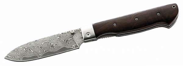 Herbertz Damast-Einhandmesser, 49 Lagen, Rosewood, Holzbox
