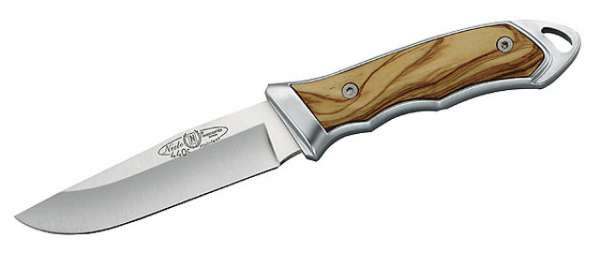 Nieto Gürtelmesser, AN.58-Stahl, Klinge 10 cm, Olivenholz, Leder