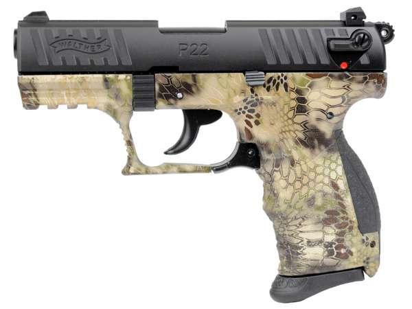 WALTHER P22Q Schreckschuss Pistole Gas Signal Alarm Pistole Kaliber 9 mm P.A.K. Kryptek