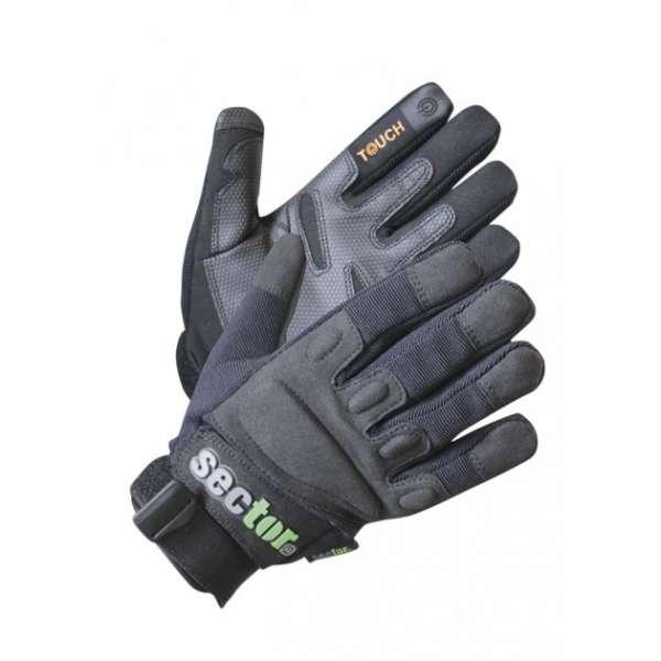 Sector Handschuhe Security mit Touch und Protektoren schwarz