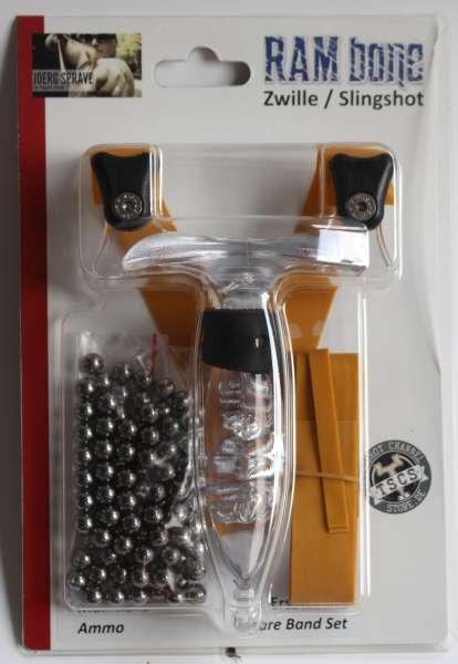 RAMbone 2.0 translucent – TBG-Single Kit, Zwille, Slingshot, Schleuder, schwarz