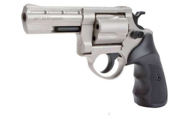 Schreckschussrevolver ME 38 Magnum 9mm R Knall matt vernickelt