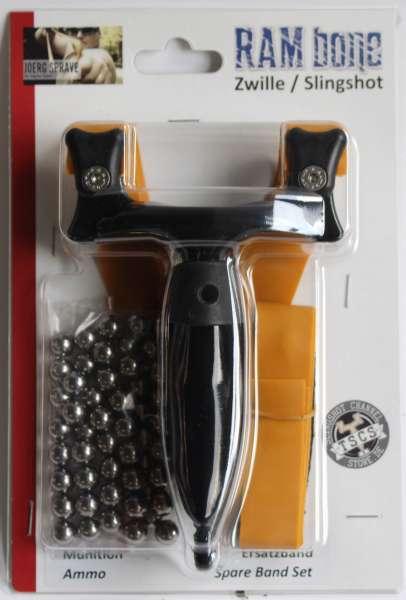 RAMbone 2.0, Zwille, Schleuder, Steinschleuder, Spatzenschleuder, Jagdschleuder, Präzisionsschleuder, Sportschleuder, Profischleuder,