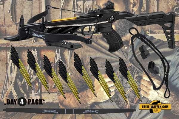 Hunting Gear Deals: Pistolenarmbrust + Pfeile + Ersatzbogen + Ersatzsehne