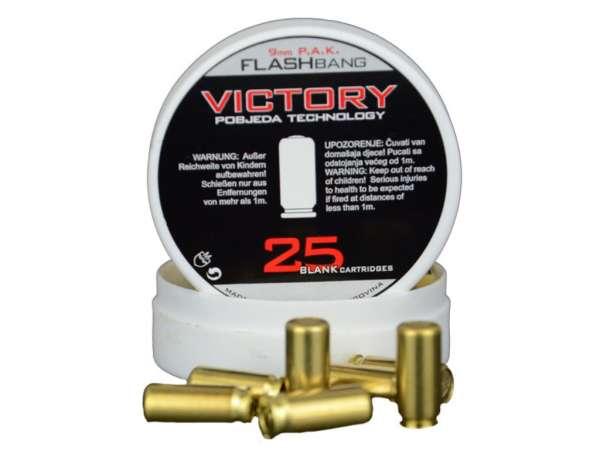 Victory Flashbang Platzpatronen 9 mm P.A.K. Effektmunition, 25 Stk.