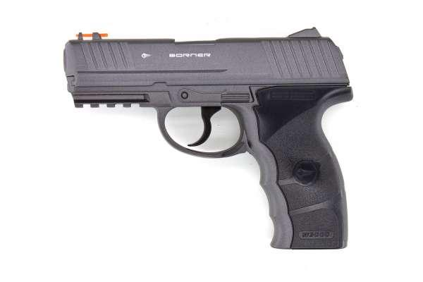 Borner W3000M CO2 Pistole BB Gun Air Pistol 4,5 mm (.177) Stahlrundkugeln