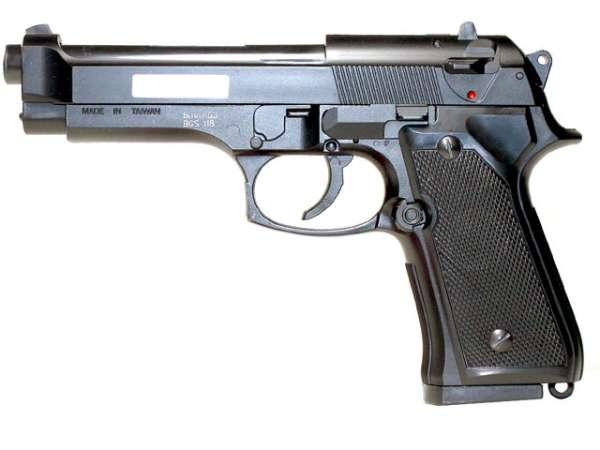 Softair Pistole BGS-118B, Federdruck, schwarz