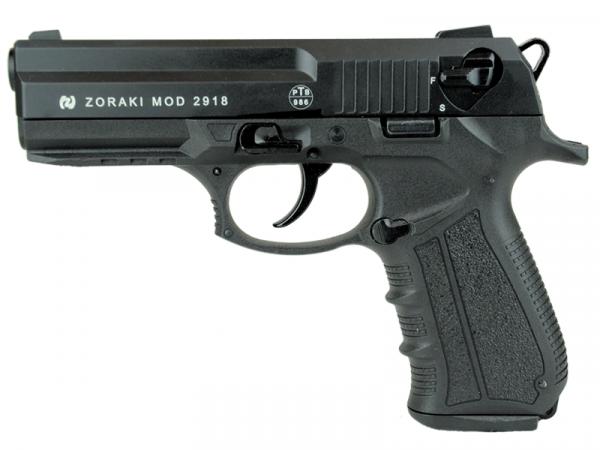 ZORAKI MOD 2918 Kaliber 9 mm P.A.K. Schreckschuss Gas Signal Pistole, schwarz
