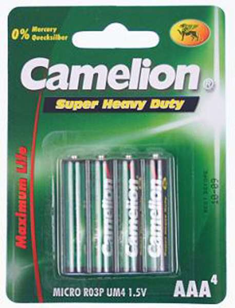 Camelion 4er Blister Micro AAA