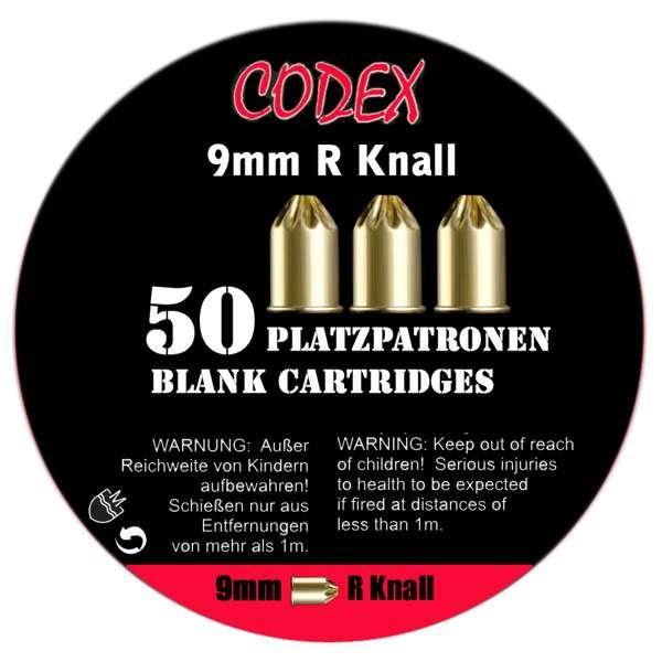 ki47882000_Platzpatronen Codex Kaliber 9 mm R Knall, 50 Stk.