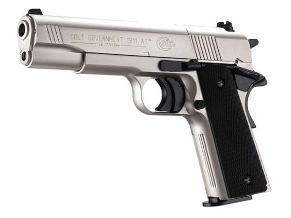 Colt Government 1911 A1, Nickel, Co2 Pistole