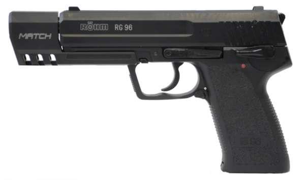 Röhm RG 96 Match Schreckschusspistole / Gaspistole 9 mm P.A.K. schwarz/brüniert