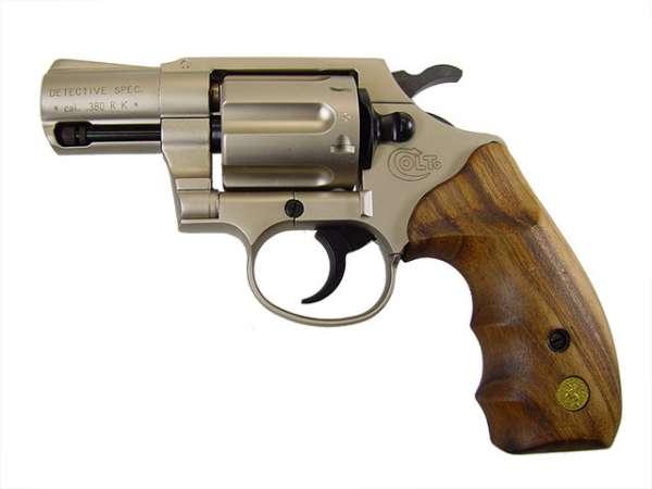 Colt Detective Special, vernickelt, Gasrevolver, Combatholzgriff