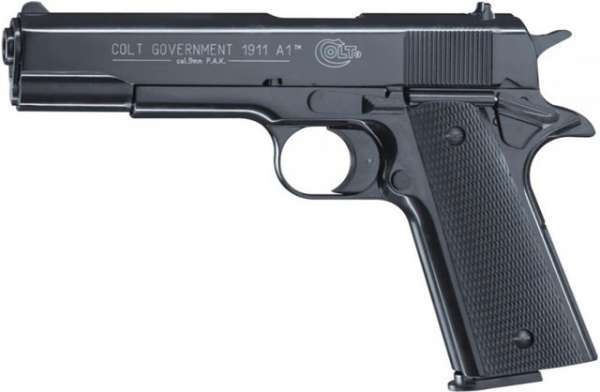 Colt Government 1911 A1, Schreckschusspistole / Gaspistole, 9 mm P.A.K., schwarz / brüniert