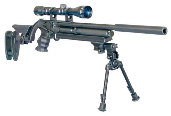 Desperado, CO2, Sniper Look incl. Zweibein und ZF 3,9x40