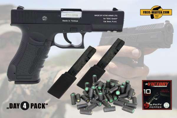 Everydaycarry: Zoraki 917 Schreckschuss Pistole 9 mm P.A.K. + 2x 30 Schuss Magazin + Platzpatronen