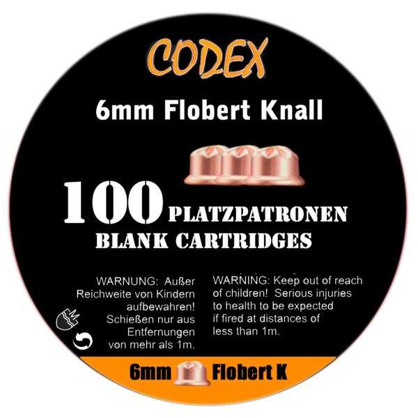Platzpatronen Codex Kaliber 6 mm Flobert, 100 Stk.