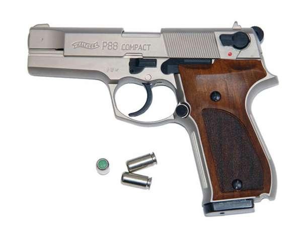 Walther P88, Schreckschusspistole / Gaspistole, 9 mm P.A.K., nickel / HG
