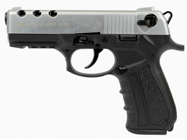 ZORAKI 4918 Schreckschusspistole / Gaspistole 9 mm P.A.K. matt chrom