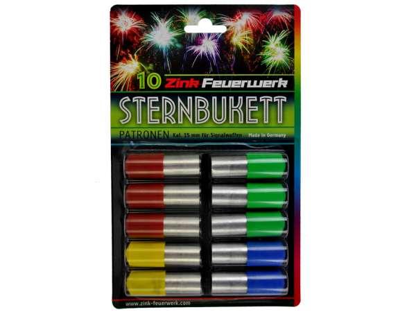 Sternbukettpatronen 15mm 10 Teile 4 Farben