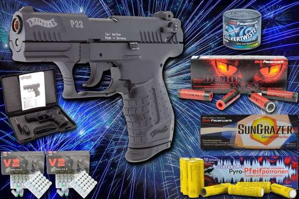Walther P22 Schreckschuss Pistole 9mm PAK - Silvester Set