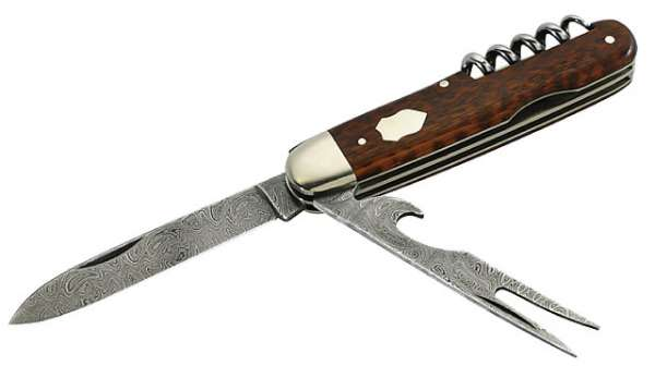 Hartkopf Damast-Taschenmesser, als Reisebesteck verwendbar, Balb