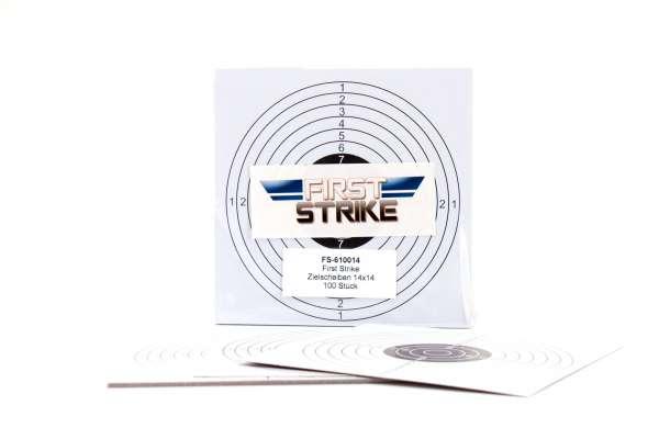 100 Stk. First Strike Papierzielscheiben 14x14 cm