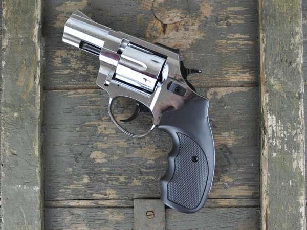 ZORAKI R1 2,5 Zoll Schreckschuss Gas Signal Revolver Kaliber 9 mm R.K. chrom, 2. Wahl