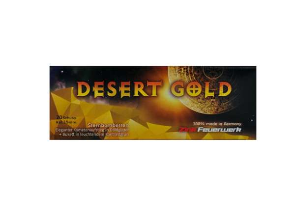 Zink Desert Gold 15 mm 20er-Packung