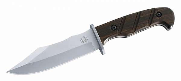 Puma TEC Gürtelmesser, Sandelholz, Klinge 12,5 cm, Lederscheide