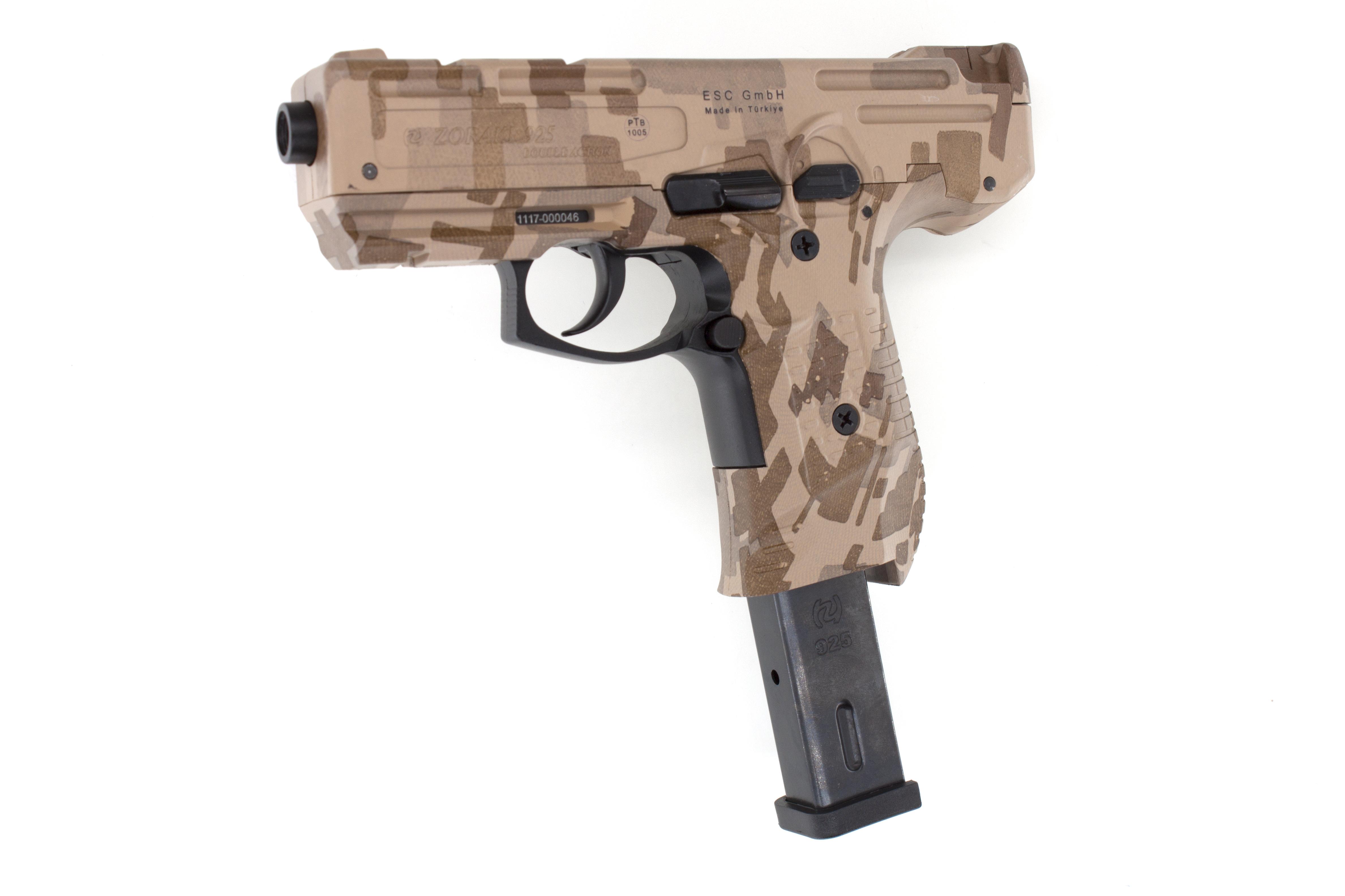 zoraki 925 schreckschuss pistole camo mit ptb zeichen. Black Bedroom Furniture Sets. Home Design Ideas