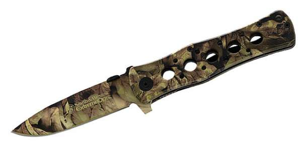 Smith and Wesson Extreme Ops Camo, Stahl 440 A, Aluminium-Schale