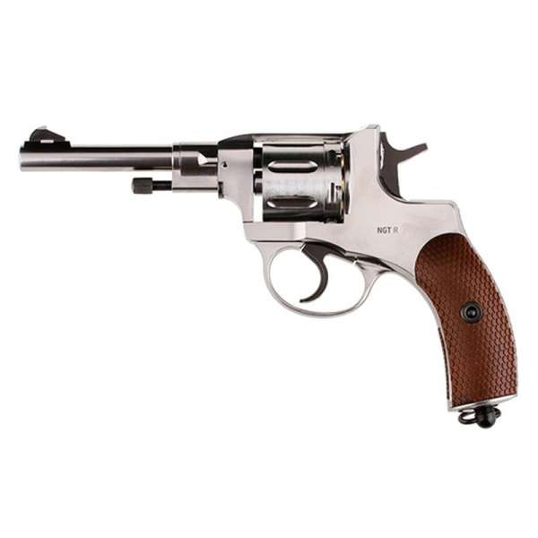 Gletcher NGT-R Silver CO2 Revolver 4,5mm Diablo