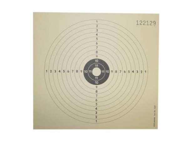 250 Zielscheiben / Schießscheiben / Ringscheiben 14x14cm