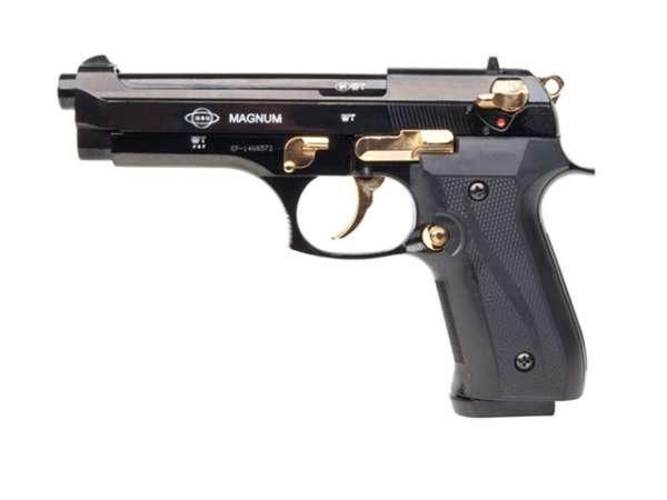 GSG Magnum Schreckschusspistole / Gaspistole, schwarz-gold