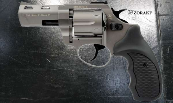 ZORAKI R2 3 Zoll Schreckschuss Revolver Kal. 9 mm R.K. titan B-Ware